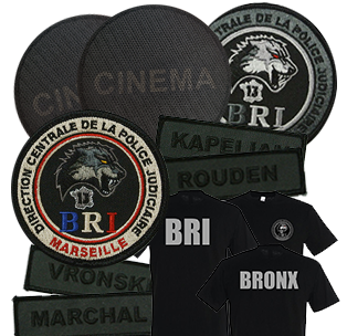 photos goodies et écussons film Bronx Olivier Marchal