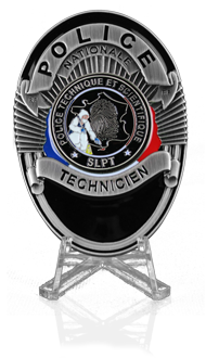 Plaque Police Technicien PTS - SLPT - Police Technique et Scientifique