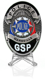 Police badge GSP Marseille