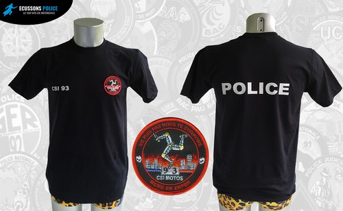 tee-shirt POLICE CSI 93 MOTOS