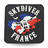 Fabrication écusson PVC SKYDIVER FRANCE