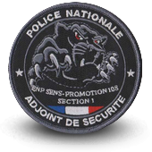 Ecusson brodé ECOLE NATIONALE DE POLICE