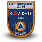 Ecusson brodé covid-19 PROTECTION CIVILE