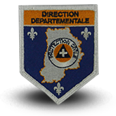 Ecusson brodé Protection Civile - direction départementale