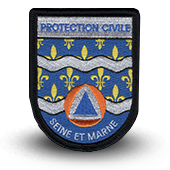 Ecusson brodé Protection Civile 77