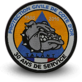 Ecusson brodé Protection Civile de côte d'or