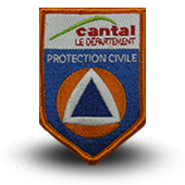 Ecusson brodé protection civile du Cantal