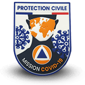 Ecusson PVC covid-19 PROTECTION CIVILE