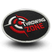 Ecusson brodé THROWING ZONE